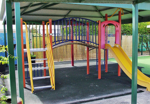 The undercover area at Whitford Family Centre, perfect for outdoor fun